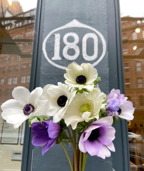 Molly Oliver Flowers, order and pick up from 180 the store